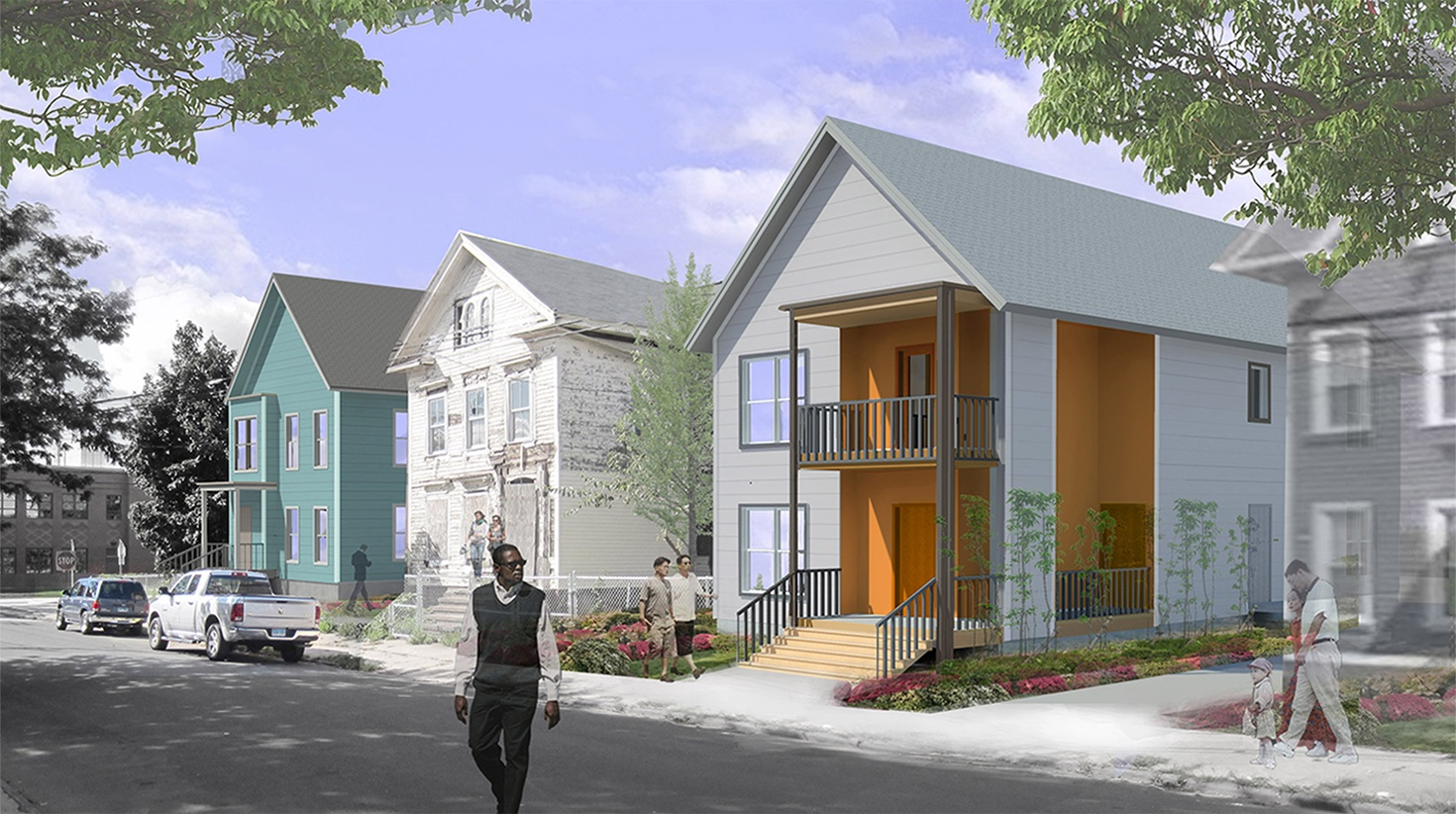 Two-family-homes - Modern Urban Infill in a Historical Neighborhood